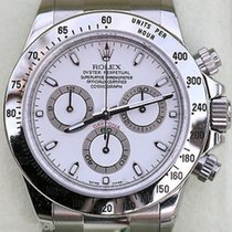 Rolex Daytona Stainless Steel White Dial 116520 Box Booklets...