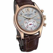 Patek Philippe Calendar Mens 5960R 18k Rose Gold Silver Dial...