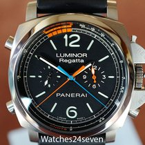 Panerai PAM 526 Luminor 1950 3 Day Flyback Regatta Blue &...