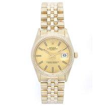 Rolex Date Men's 14k Yellow Gold Watch 15037