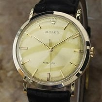 Rolex 34mm 1967 Mens Solid 18k Yellow Gold Precision Swiss...