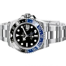"Rolex GMT MASTER II CERAMIC BEZEL BLUE BLACK "" BATMAN"