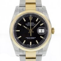 Rolex DATEJUST 36mm Steel & 18K Yellow Gold Black Dial