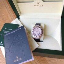 Rolex 18k W/G Diamond & Sapphire Cosmo Daytona