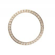 Rolex Zubehör - Lünette Gelbgold Diamant 0,60ct 26mm Neu mit...