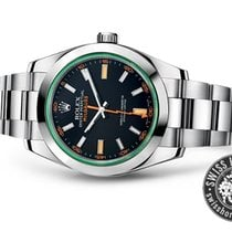 Rolex Milgauss 116400GV Green Glass Black Dial