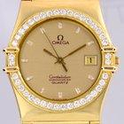 Omega Constellation Chronometer 18K Gold Diamond Bezel Dial...