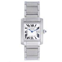 Cartier Tank Francaise Midsize Steel Watch W51011Q3