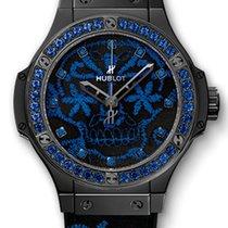 Hublot Big Bang Broderie Sugar Skull Fluo Cobalt Blue Ceramic...