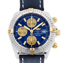 Breitling Chronomat Evolution Blue Dial Gold Steel B13356