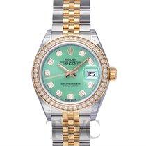 Rolex Lady Datejust Mint Green Steel/18k Yellow Gold Dia 28mm...