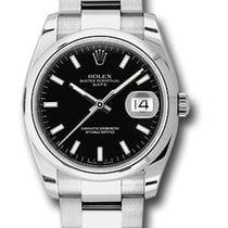 Rolex Unworn 115200 Date 34mm in Steel with Domed Bezel - on...