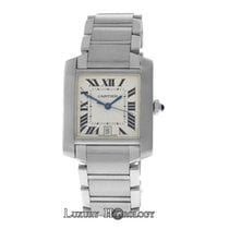 Cartier Authentic Unisex Tank Francaise 2302 Steel Automatic