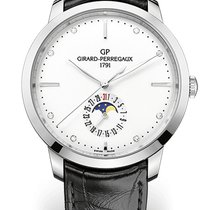 Girard Perregaux 1966 DATE AND MOON PHASES Steel Strap Black...