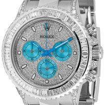 Rolex Cosmograph Daytona Diamond Pavé Blue Sub-Dials 116520