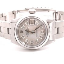 Rolex Ladies SS Datejust - Mother Of Pearl Diamond Dial -...
