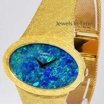 Chopard Mens Vintage 18k Yellow Gold and Black Opal Bracelet...