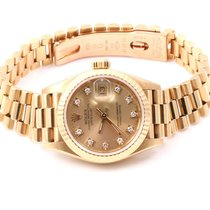 Rolex Ladies 18K Yellow Gold President - Factory Champagne...