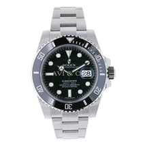 Rolex SUBMARINER Stainless Steel Watch Black Ceramic 2016