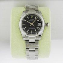 Rolex Datejust 31mm Steel Black Index Dial
