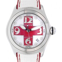 Corum Bubble Red Cross Limited Edition 200pc 82.150.20 Steel