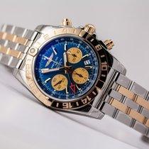 Breitling Chronomat 44 GMT 18kt gold/SS Blue Dial