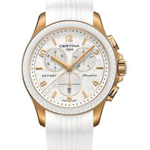 Certina DS First Lady Keramik Chrono Farbe Weiß