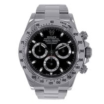 Rolex DAYTONA Stainless Steel Watch Black Dial 2007