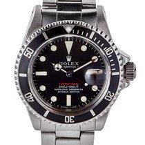 Rolex Submariner Date 40mm In Acciaio Scritta Rossa Meter...