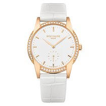 Patek Philippe 7122/200R-001 Rose Gold Ladies Calatrava 33mm...