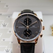 IWC IW371482 Portugieser Grey Dial Chronograph Rose Gold