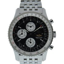 Breitling Navitimer Olympus Stainless Steel With Black Dial On...