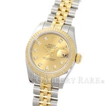 Rolex Datejust Champagne Diamond Dial Yellow Gold Steel 26MM 2017