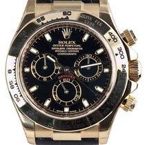 Rolex Cosmograph Daytona 18ct Yellow Gold Black/Index Leather...