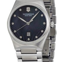 Victorinox Swiss Army Victoria Steel Womens Watch Black...