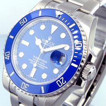Rolex 116619 18k White Gold Ceramic Submariner Blue Dial