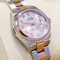 Rolex Datejust 28mm 279161 Oyster 18k Rose Gold Sundust Dial...