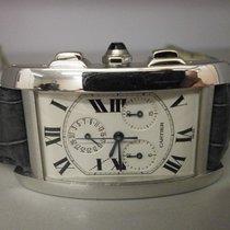 Cartier Tank Americaine Chronoflex W2603356 18k W/g Chronograp...