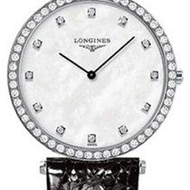 Longines La Grande Classique Quartz 29 Diamond Bezel White MOP...