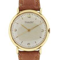 IWC Schaffhausen 18k Gold on Brown Leather Watch