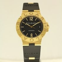 Bulgari Diagono Automatic 38mm 18ct yellow gold with rubber strap