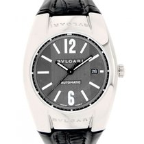 Bulgari Ergon In White Gold And Leather,40mm
