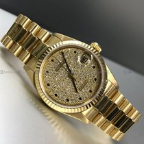 Rolex - Date Just 68278 Diamond Dial Y/G
