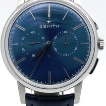Zenith Elite Chronograph Blue Dial On Alligator Strap 03.2272....