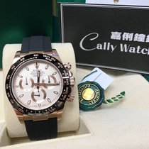 Rolex Cally - 2017 NEW Daytona 116515LN- RUBBER Ivory Dial 膠帶米面