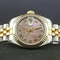 Rolex Datejust 179173 Lady 26mm 18k Yellow Gold Steel Black...