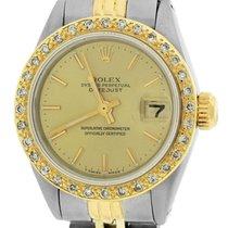 Rolex DateJust 6917 Champagne Diamond 26mm Two Tone Jubilee Watch