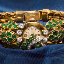 Breitling 1970S EMERALD DIAMOND SET CONCEALED DIAL 18KT YG