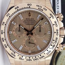 Rolex Daytona 18K Solid Rose Gold Diamonds