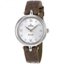 Omega Ladies 42413276052001 Deville Prestige Dewdrop Watch